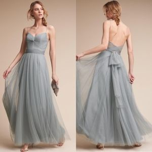 BHLDN Watters Tinsley Dress Gown Bridesmaid Blue